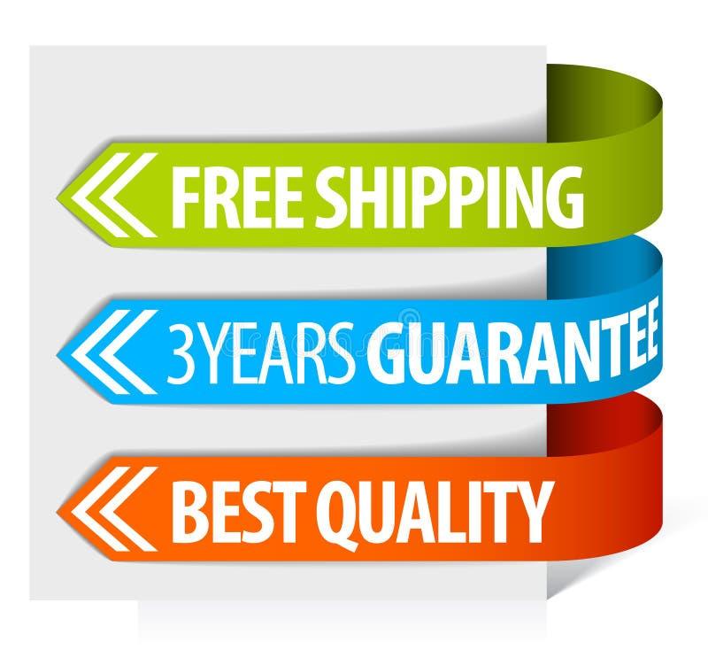 Tag para o transporte, a garantia e a qualidade livres ilustração royalty free