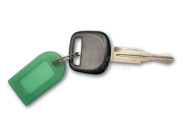 Tag plástico chave e verde fotos de stock