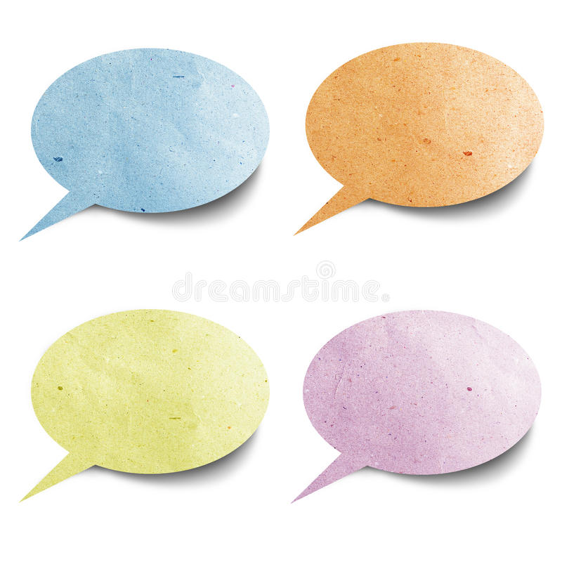 Tag recycled paper craft. Stick on white background royalty free stock image