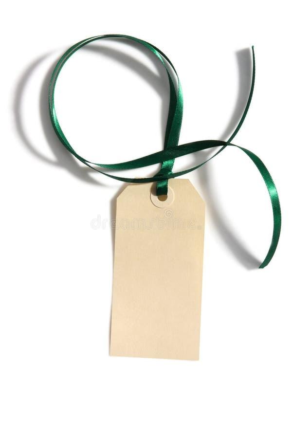 Tag With Ribbon Stock Photo