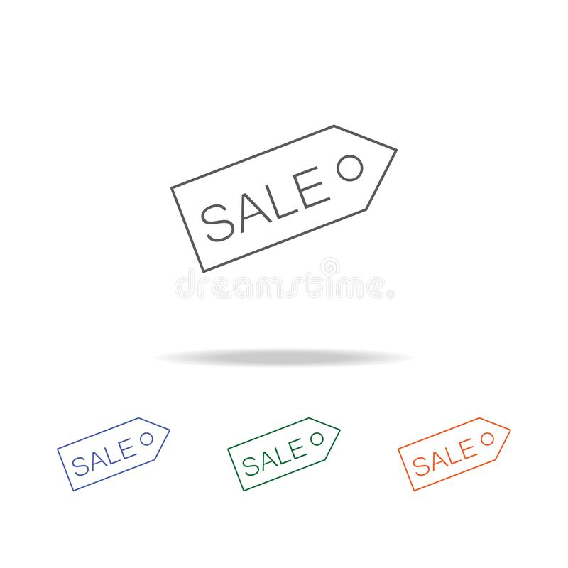 Tag sale Icon. Element of a shopping multi colored icon for mobile concept and web apps. Thin line icon for website design and dev. Elopment, app development vector illustration
