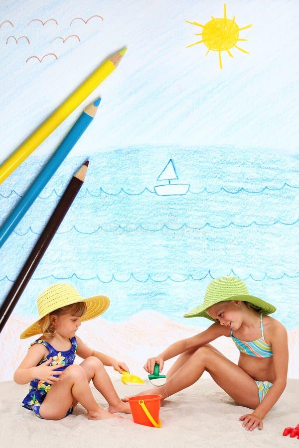 Tag am Strand stockbilder