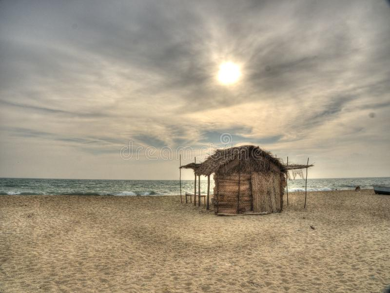 Tag am Strand lizenzfreies stockbild