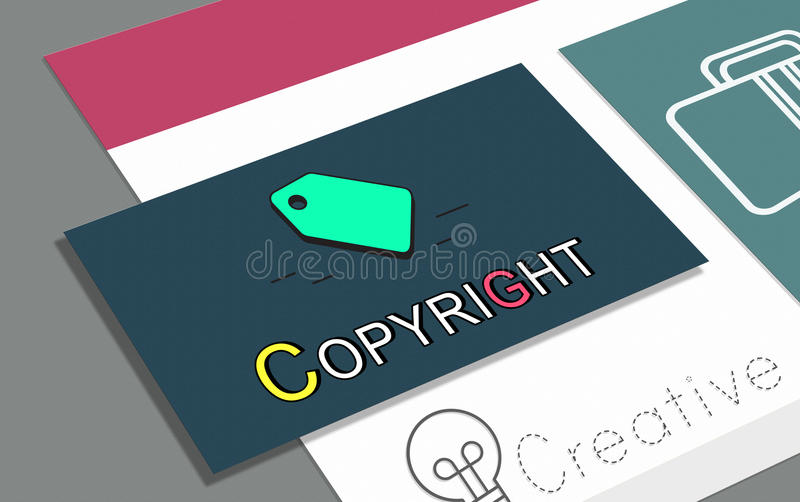 Tag Trademark Copyright Business Marketing Icon Concept stock illustration