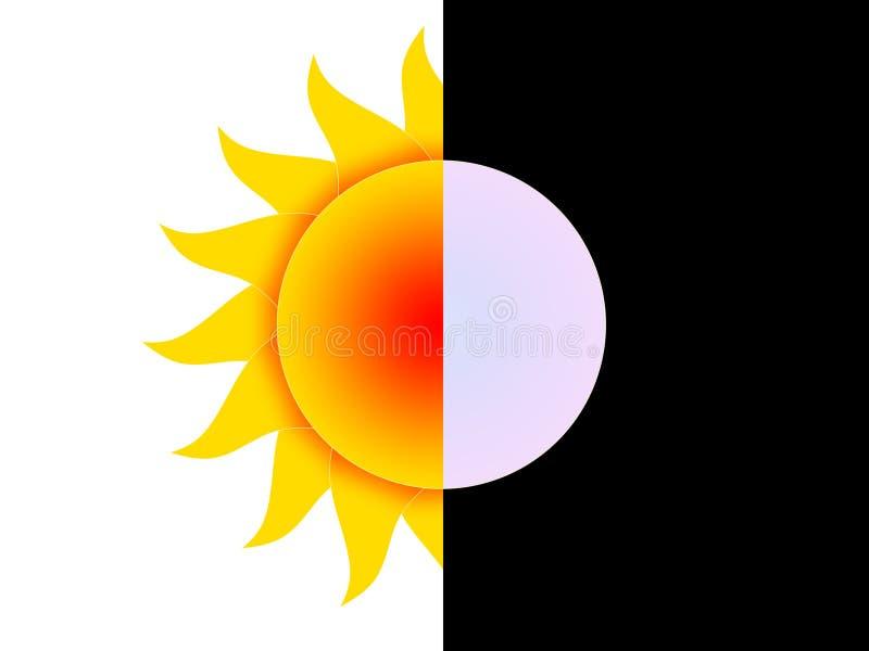 Tag und Nacht vektor abbildung