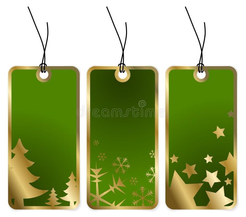 Tag verdes do Natal ilustração do vetor