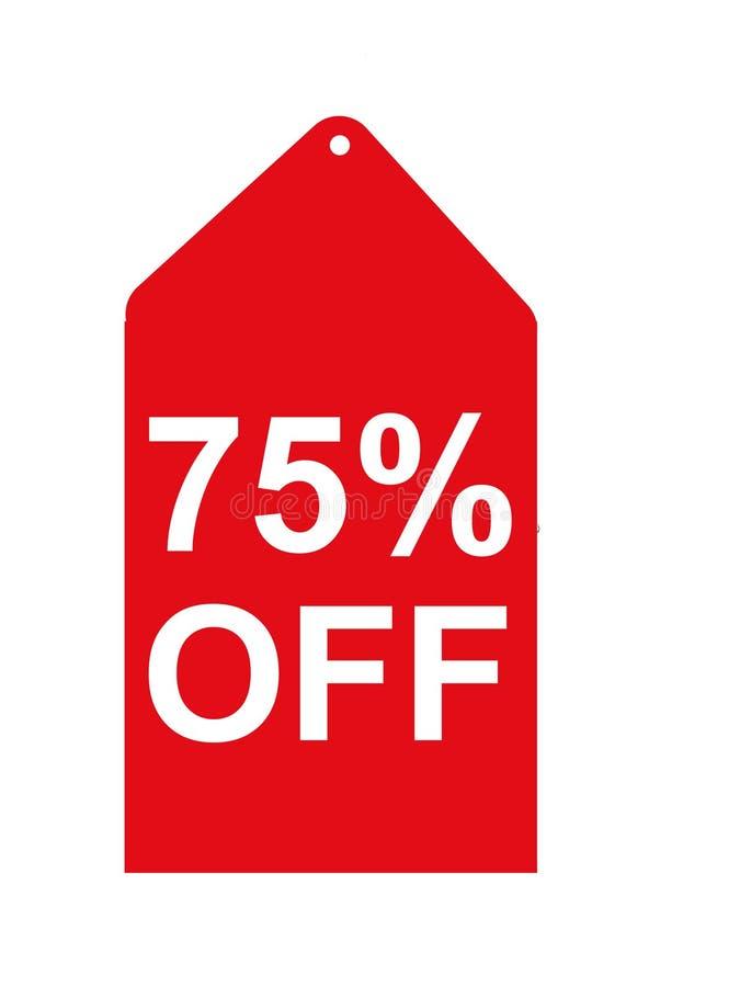 Tag vermelho da venda ilustração stock