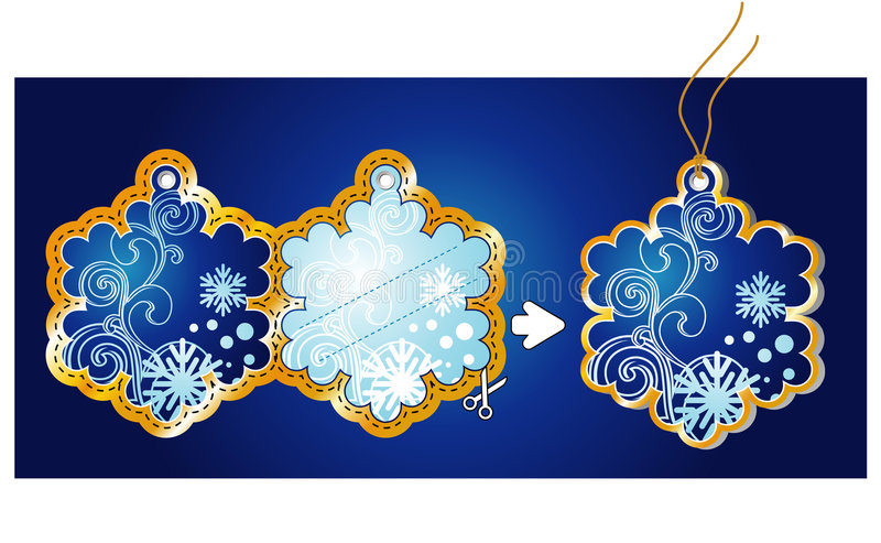 Tag/vetor do presente do Natal ilustração stock