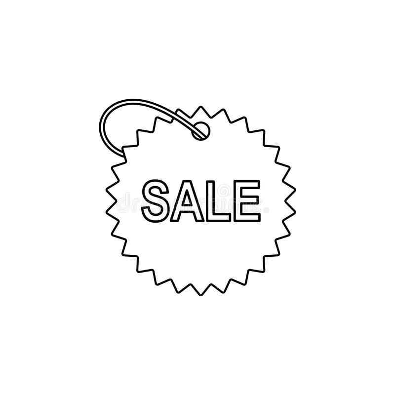 tag with the word sale icon. Element of sale signs for mobile concept and web apps. Thin line icon for website design and develop royalty free illustration
