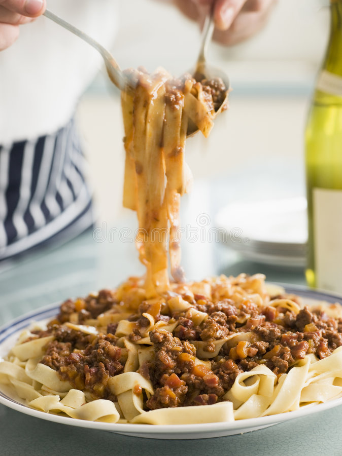 Download Tagaliatelle With Ragu Sauce Stock Image - Image: 5950937