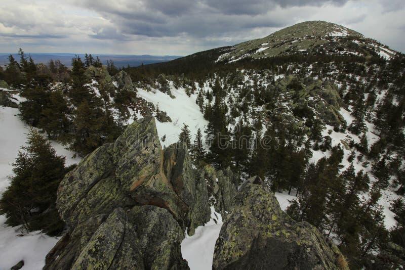 Taganai国家公园 Kruglitsa山1178 m 免版税库存图片
