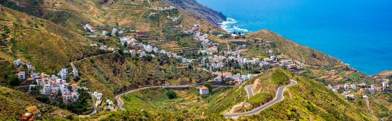 Taganana村庄, Tener的美丽的景色Anaga山的 免版税库存图片