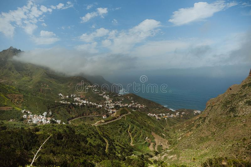 Taganana镇,特内里费岛,加那利群岛,西班牙 免版税库存图片
