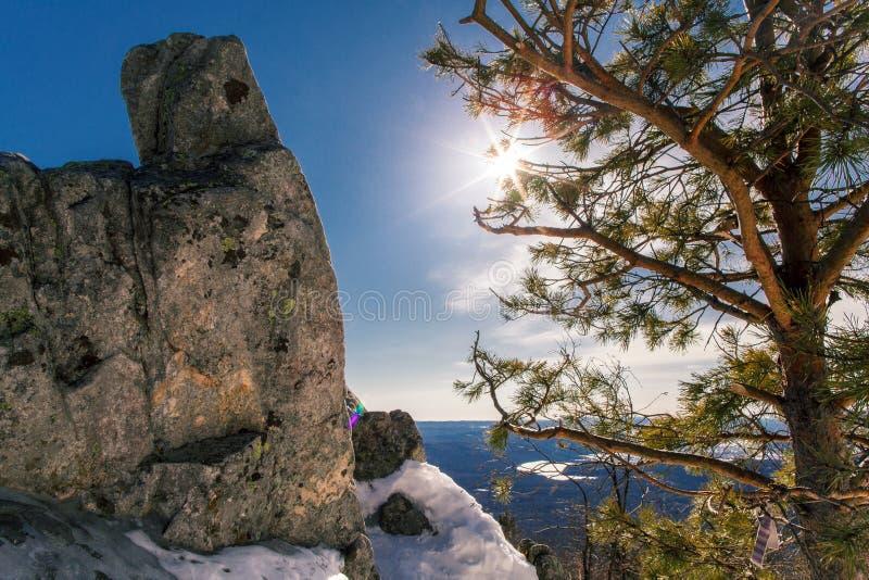 Taganay -一国立公园在乌拉尔南部 俄国 库存照片
