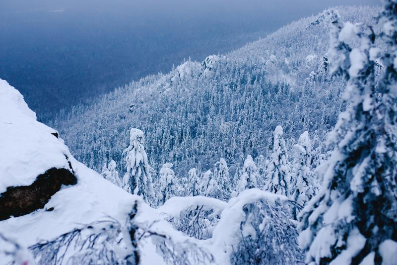 Taganay bergurals vinter royaltyfri foto