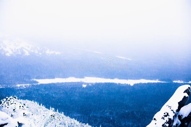 Taganay, gór Urals zima zdjęcia stock