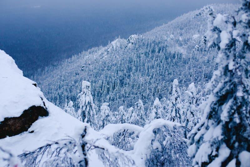 Taganay, gór Urals zima zdjęcie royalty free
