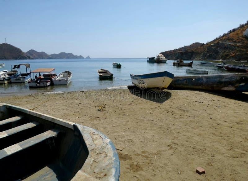Taganga海滩哥伦比亚 免版税库存图片