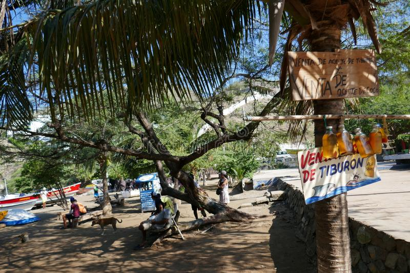 Taganga海滩,圣塔迈尔塔 免版税图库摄影