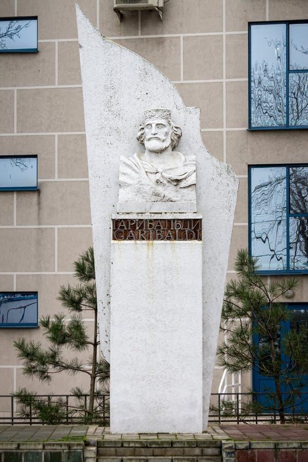 TAGANROG, RUSSIA - DECEMBER 12, 2015: Monument of Giuseppe Garibaldi. TAGANROG, RUSSIA - DECEMBER 12, 2015: Monument of Giuseppe Garibaldi stock images
