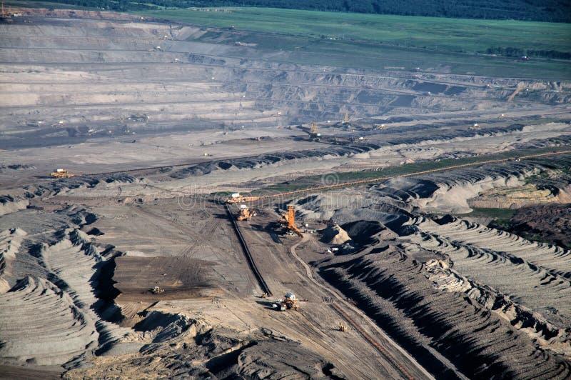 Tagebau der Braunkohle stockbild