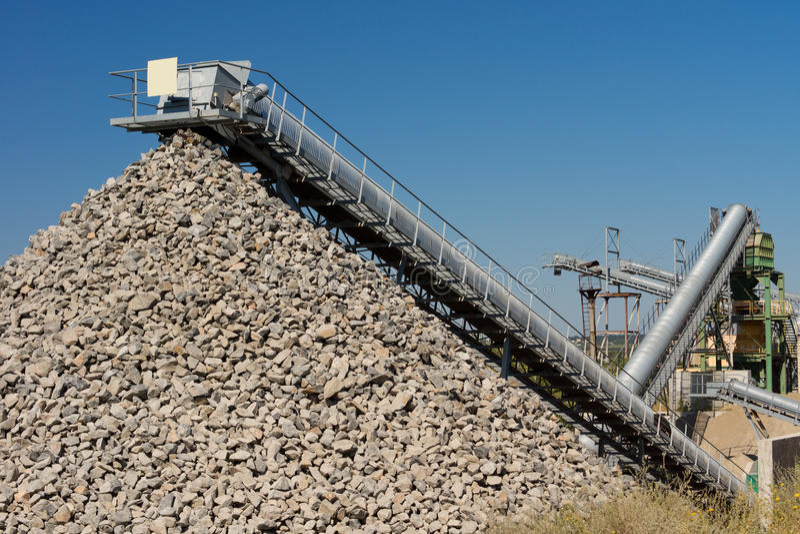 Tagebaubergbau des Steins lizenzfreie stockfotografie