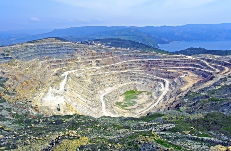 Tagebaugrube stockfotos