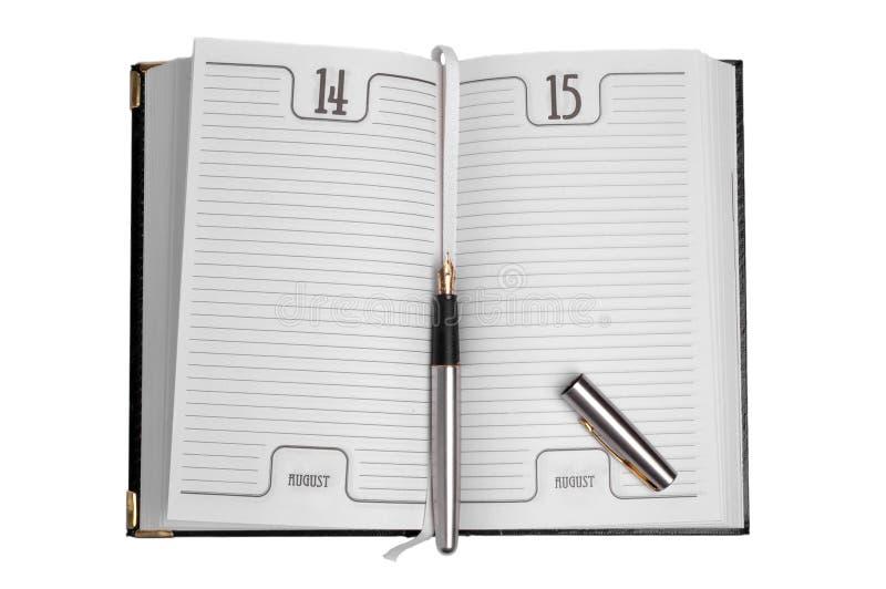 Tagebuch stockbild