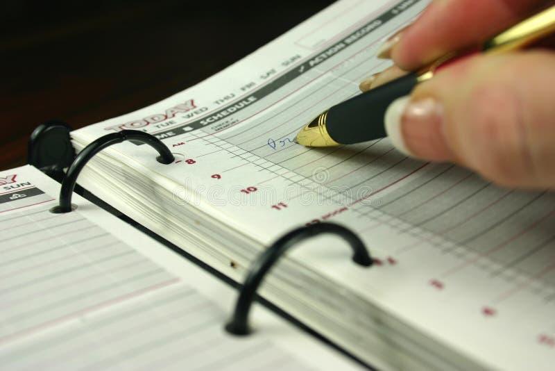 Tagebuch-Eintrag lizenzfreies stockfoto