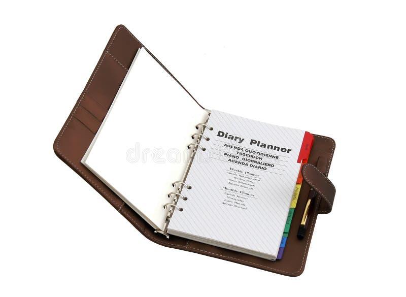 Tagebuchplaner lizenzfreie stockfotos