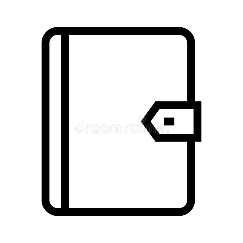Tagebuchvektorlinie Ikone lizenzfreie abbildung