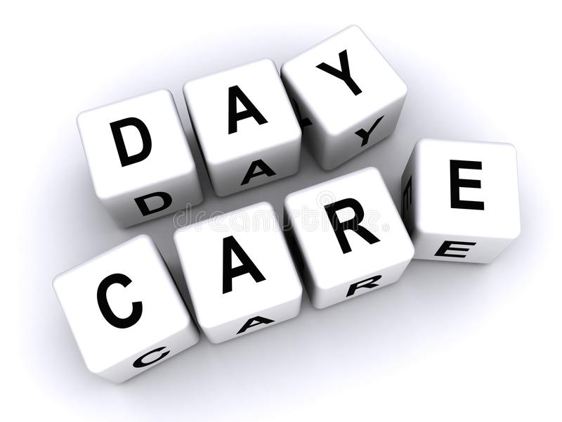 Tagesbetreuung stock abbildung