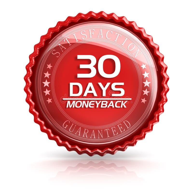 30 Tagesgeld-Rückseite stock abbildung