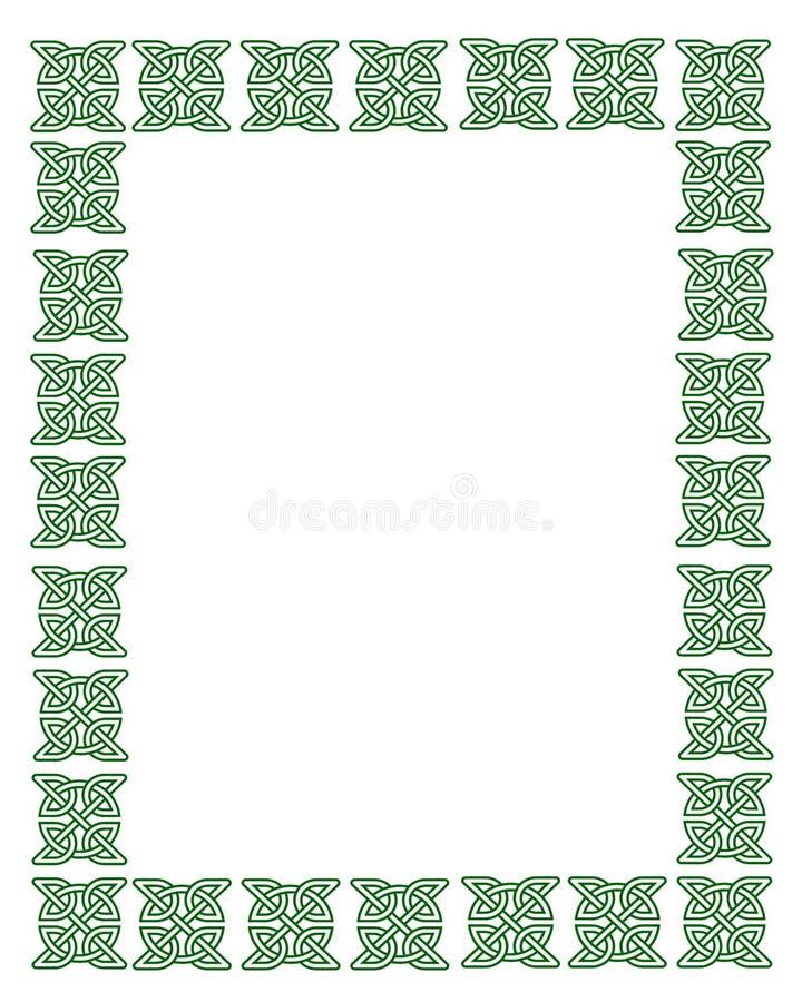 Tageskeltisches Knoten-Feld Str.-Patricks lizenzfreie abbildung