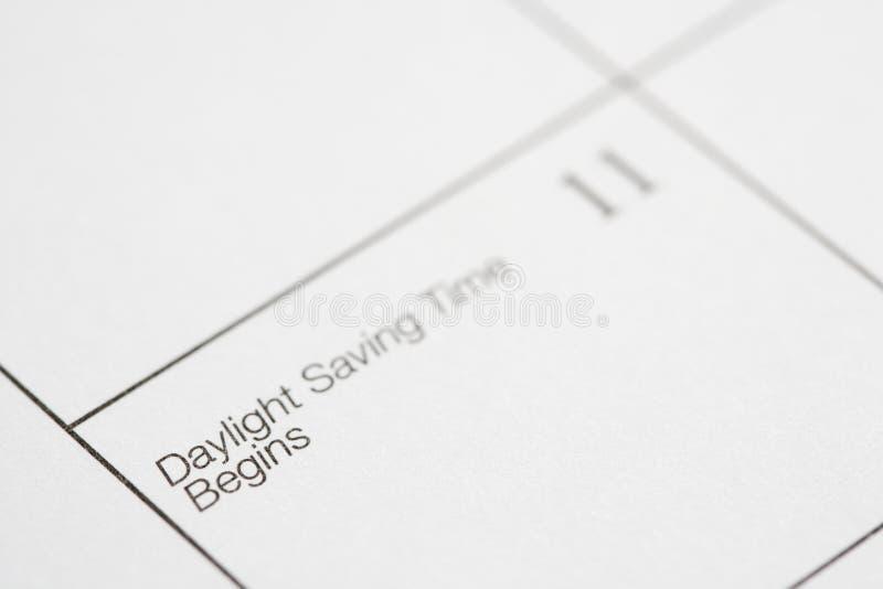 Tageslicht-Einsparung-Zeit. lizenzfreie stockfotografie