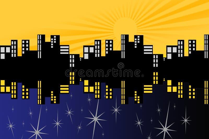 Tagesnacht Symetric stockfotos