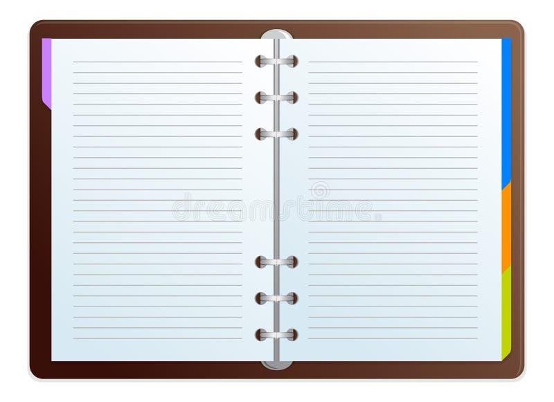 Tagesordnungs-Vektor lizenzfreie abbildung