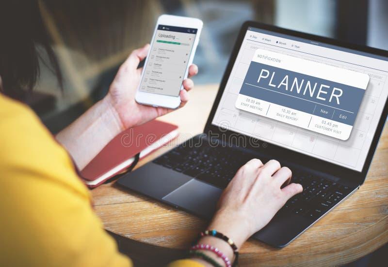 Tagesordnungs-Verabredungs-Plan-Programm-Zeitplan-Konzept lizenzfreies stockfoto