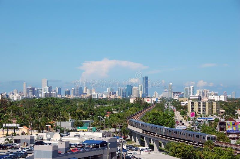 Tagesskylineansicht von Miami stockfotografie
