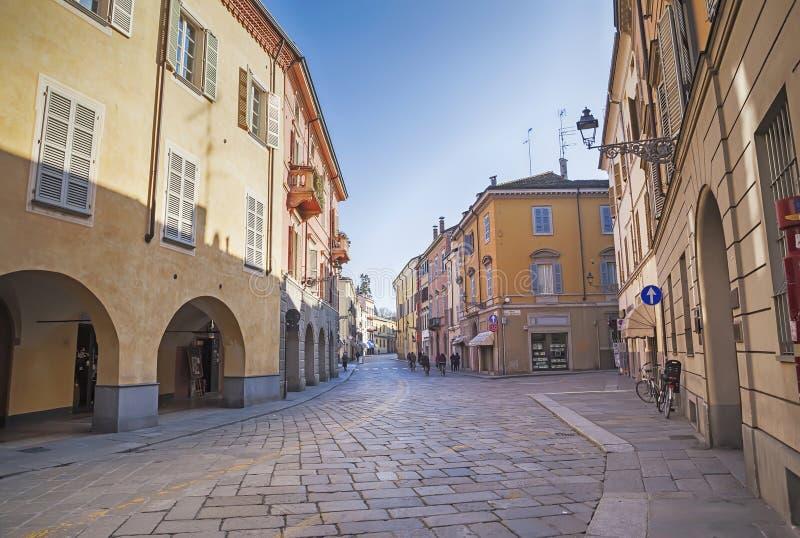 Tagesstraße in Parma, Italien, stockfotografie
