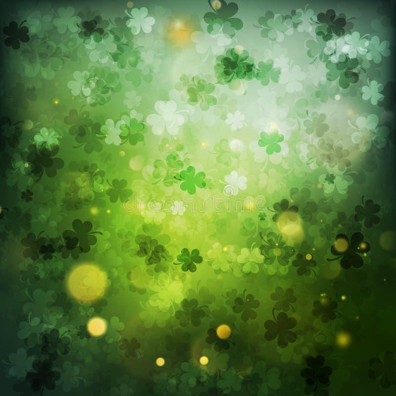 Tageszusammenfassungs-Grünhintergrund St Patrick s Vektor ENV 10 vektor abbildung