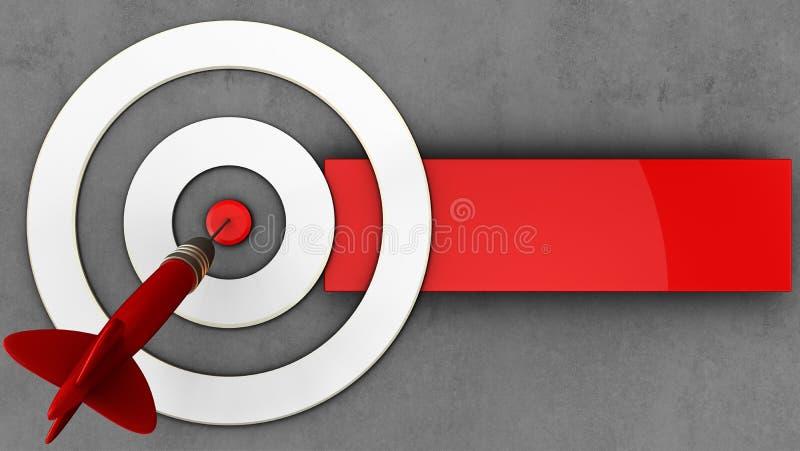 taget blanco 3d con el dardo stock de ilustración