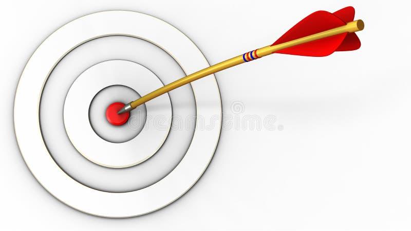 taget blanco 3d con la flecha stock de ilustración