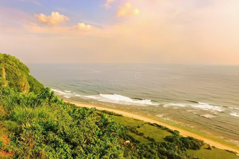Indien hav från Uluwatu royaltyfri foto