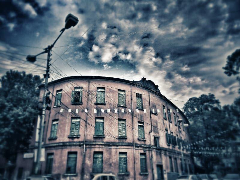 Taget som ett spökat hus royaltyfri bild
