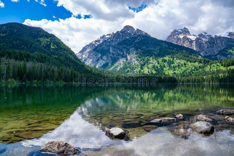 Taggart湖,大蒂顿国家公园 免版税库存图片