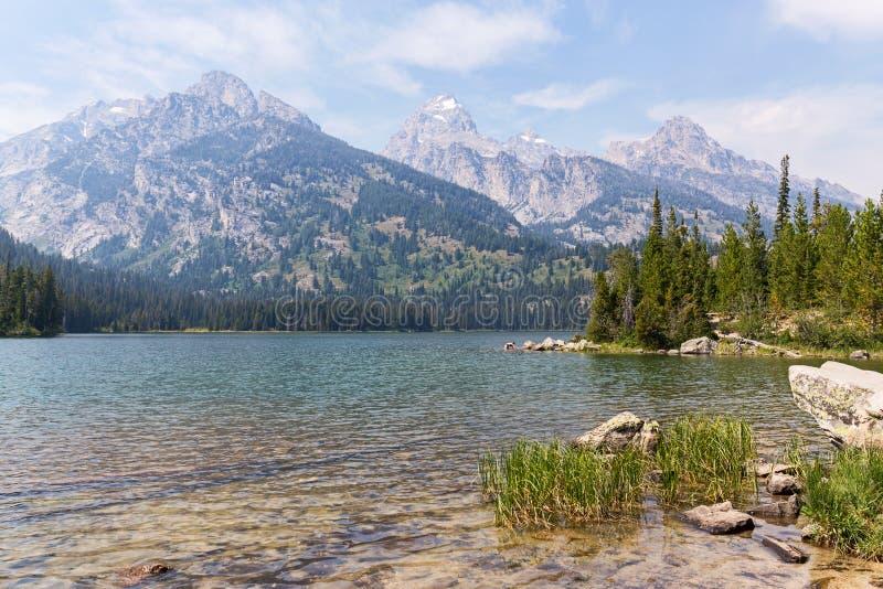 Taggart Lake, parque nacional grande de Teton fotografia de stock