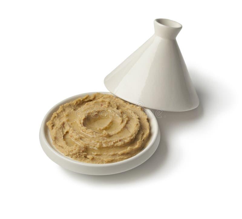 Tagine с hummus и оливковым маслом стоковые фотографии rf