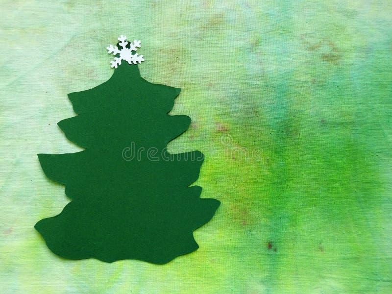 Tagli dall'albero di Natale verde di carta immagini stock
