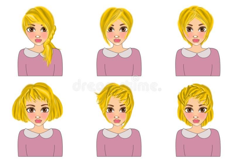 Tagli dei capelli royalty illustrazione gratis